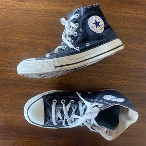Hi Top All Star Chuck Taylors Black & White